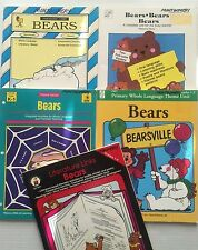 Lt 5 Bear Theme Curriculum Activity Idea Books Grade K-4 Reproducible Homeschool