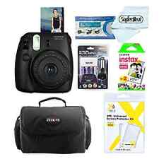 Fujifilm Pack: Instax Mini 8 Instant Polaroid Camera Film Case Batteries Charger
