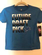 NFL Team Apparel Kids DETROIT LIONS FUTURE DRAFT PICK TShirt Size M (5/6) NWT