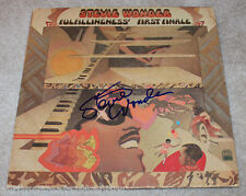 STEVIE WONDER SIGNED 'FULFILLINGNESS FIRST FINALE' RECORD ALBUM LP w/COA PROOF