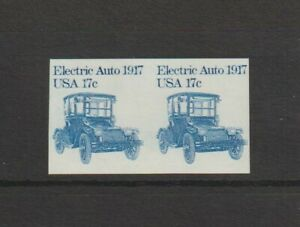US EFO, ERROR Stamps: #1906b Electric Auto, Car. Imperf coil pair. MNH.