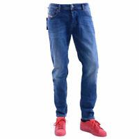 DIESEL TROXER R8N55 Mens Denim Jeans Dark Stretch Casual Pant Slim Fit Trouser
