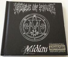 CRADLE OF FILTH MIDIAN LIMITED EDITION CD ALBUM 2001 DIGIPACK PELLE RARISSIMO!