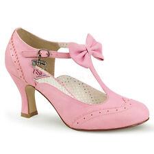 Pink Flapper Girl Swing Dance Pin Up 1940s Halloween Costume Shoes Heels 6 7 8 9
