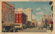 Main Street Looking North in Little Rock AR Postcard
