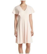 Calvin Klein Flutter Sleeve Seamed Dress  Blossom size 8
