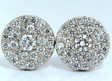 4.26ct natural round diamonds cocktail cluster earrings 14kt g.vs+