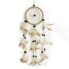 """14.5"""" Dream Catcher Brown Home Wall hanging Decoration Bead Ornament Feathers"""