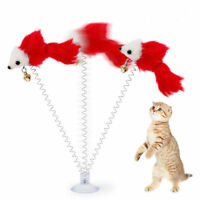 New Design Funny Cat Toys Spring Plush Mouse Pet Toys With Sucker - 1 Piece