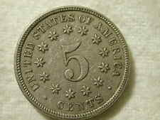 1872 U.S shield Nickel type 5 cent extra fine