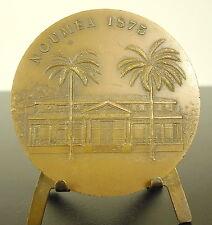 Médaille Hotel de ville de Nouméa 1875-1975 Nouvelle-Calédonie 62 mm 110 g Medal