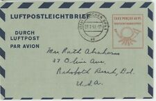 Germany Brd 1951 Luftpostleichtbrief Michel Nr. Lf6 used (10¢ combined shipping)
