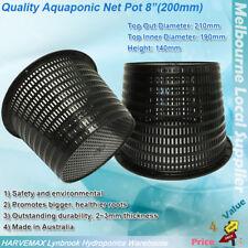 "8"" 200mm 8in Hydroponics Plant Grow Net Cup Mesh Pot Basket Aeroponic Aquaponic"