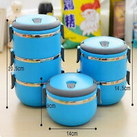 1/2/3/4 Layers Stainless Steel Insulated Bento Food Thermal Container Lunch Box