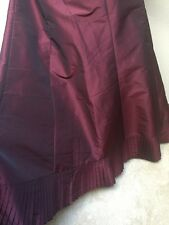 Long Burgundy Red Wine Elegant Dressy Ruffled Party Wedding Holiday Skirt