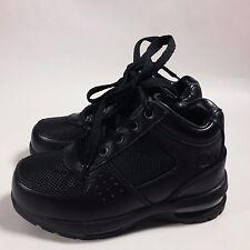 NICE Boy's Kids Mountain Gear Walking Hiking Ankle Boots Black Leather-11