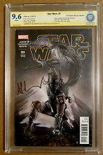 STAR WARS #1 CBCS 9.6 SS SIGNED BY ADI GRANOV FORBIDDEN PLANET VARIANT BOBA FETT