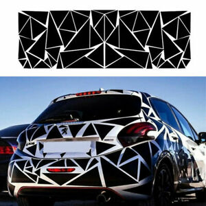 Black Triangle Car Body Side Decal Vinyl Geometric Graphics Stickers 78 x23 in