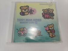 JANOME Embroidery Design Memory Card Teddy Bear Series #18 USE WITH  8000 ONLY