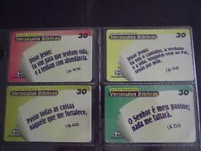 BIBLE VERSES 1999 Complete Set of 4 Different Phone Cards from Brazil