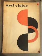 Arti Visive N°1 Rivista della fondazione Origine Abstract Abstrait Art (1954)