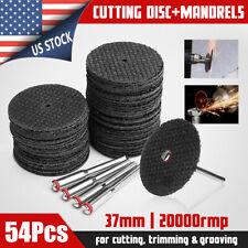 54Pcs/Set Cutting Disc Cut Off Wheel For Rotary Abrasive Tools + 4Pcs Mandrels