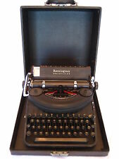 Vintage Remington Noiseless Model Seven Portable Typewriter with Original Case