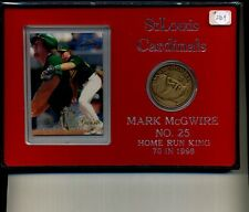 Mark Mcgwire Bronze Coin And Card Set