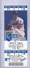 Kansas City Royals Detroit Tigers 8/22/08 Unused Ticket Justin Verlander WIN