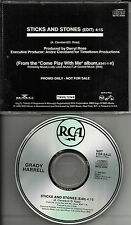 Papa's Results GRADY HARRELL Sticks and Stones EDIT USA PROMO DJ CD single 1989