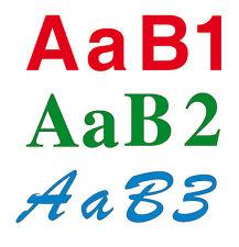 Chiffres lettres adhésifs LETTRAGE découpe personnalisée adhésive vinyle 2 cm