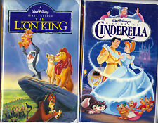 The Lion King (VHS, 1995) & Walt Disney Masterpiece Cinderella (VHS, 1995);2 VHS