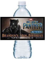 20 ~  AVENGERS BLACK PANTHER BIRTHDAY PARTY FAVORS WATER BOTTLE LABELS