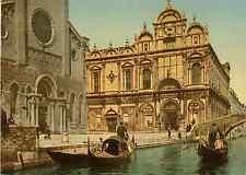 Venezia. Ospedale San Giovanni e Paolo Photochrome original d'époque, Vinta