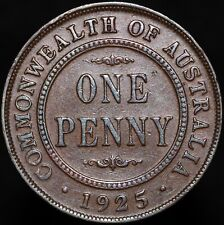 More details for 1925 | australia george v one penny 'key date' | bronze | coins | km coins