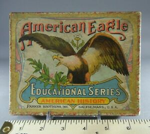 Antique Parker Brothers Educational Series AMERICAN HISTORY Q&A Cards