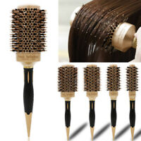 1PC Round Barrel Boar Bristle Curling Hair Brush Hairdressing Styling Combs