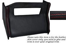 Rojo Stitch Centro Consola Radio Envolvente De Cuero Skin Tapa se ajusta Mg Mgb 72-76