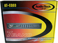 AudioTek CAR AUDIO PASSIVE EQUALIZER 7 BAND 1/2 DIN PRE AMP EQ SUB CROSSOVER
