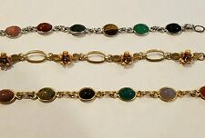 White and yellow gold filled Scarab bracelets, rose/yellow gold floral bracelet