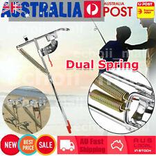 2x Fishing Rod Holder Spring Automatic Tip-up Hook Setter Pole Tackle Bracket