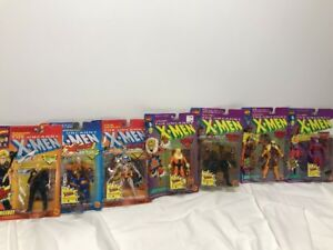Toybiz THE UNCANNY X-MEN Action Figure Lot-7 Cable/Wolverine/Tusk/Longshot MOC