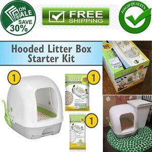 Purina Tidy Cats Breeze Hooded System Starter Kit Cat Litter Box, Litter Pellets