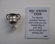 v Best Teacher Ever TROPHY CHARM Best Teacher Every Ganz