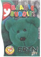 TY Beanie Babies BBOC Card - Series 3 Beanie/Buddy Right (GOLD) - ERIN the Bear