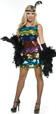 Sequin Rainbow Flapper Dress for Women size M (8-10) New by Charades 02942