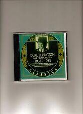 DUKE ELLINGTON 1932-33 CLASSICS CD NEW