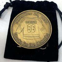 Mario Lemieux Jersey Retirement Commemorative Gold Coin Civic Arena Giveaway SGA