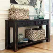 Console Tables For Entryway Sofa Table With Storage Behind Sofa Farmhouse Rustic