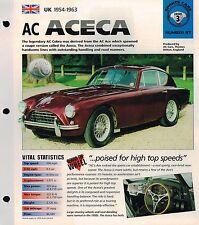 AC ACECA IMP Brochure: 1954,1955,1956,1957,1958,